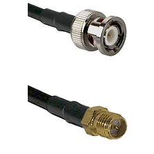 BNC Male on LMR240 Ultra Flex to SMA Reverse Polarity Female Cable Assembly