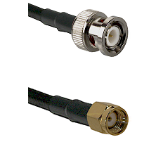 BNC Male on LMR240 Ultra Flex to SMA Reverse Polarity Male Cable Assembly