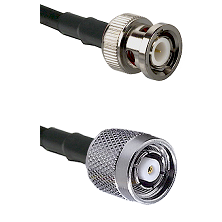 BNC Male on LMR240 Ultra Flex to TNC Reverse Polarity Male Cable Assembly