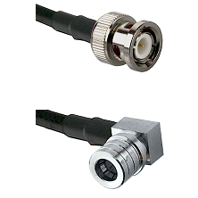 BNC Male on LMR240 Ultra Flex to QMA Right Angle Male Cable Assembly