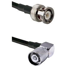 BNC Male Connector On LMR-240UF UltraFlex To SC Right Angle Male Connector Cable Assembly