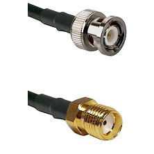BNC Male Connector On LMR-240UF UltraFlex To SMA Reverse Thread Female Connector Coaxial Cable Assem