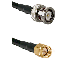 BNC Male on LMR240 Ultra Flex to SMA Reverse Thread Male Cable Assembly