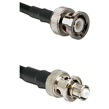 BNC Male Connector On LMR-240UF UltraFlex To SHV Plug Connector Cable Assembly