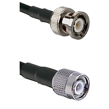 BNC Male On LMR400UF To TNC Male Connectors Ultra Flex Coaxial Cable