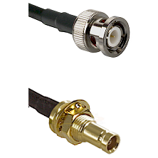 BNC Male on RG142 to 10/23 Female Bulkhead Cable Assembly