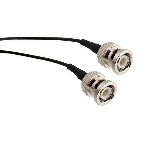 BNC Male Plug on RG401 .250 Semi-Rigid Bare Copper Coax to BNC Male Plug 60 inches long Coaxial / R