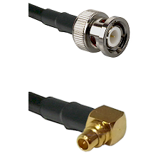 BNC Male To Right Angle MMCX Male Connectors RG178 Cable Assembly
