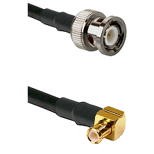 BNC Male on RG316DS Double Shielded to MCX Right Angle Male Cable Assembly