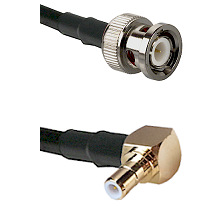 BNC Male To Right Angle SMB Male Connectors RG316DS Double Shielded Cable Assembly