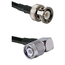 BNC Male To Right Angle TNC Male Connectors RG316DS Double Shielded Cable Assembly