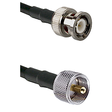 BNC Male on RG316DS Double Shielded to UHF Male Cable Assembly
