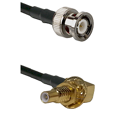 BNC Male on RG400 to SLB Male Bulkhead Cable Assembly