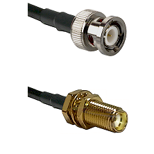 BNC Male on RG400 to SMA Female Bulkhead Cable Assembly