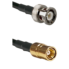 BNC Male On RG400 To SMB Female Connectors Coaxial Cable