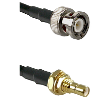 BNC Male on RG400 to SMB Male Bulkhead Cable Assembly
