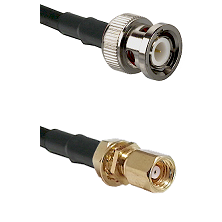 BNC Male on RG400 to SMC Female Bulkhead Cable Assembly