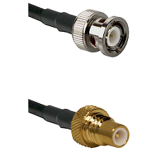 BNC Male On RG400 To SMC Plug Connectors Coaxial Cable