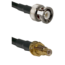 BNC Male on RG400 to SMC Male Bulkhead Cable Assembly