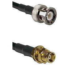 BNC Male on RG58C/U to MCX Female Bulkhead Cable Assembly
