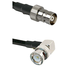 C Female on LMR100 to BNC Right Angle Male Cable Assembly