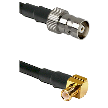 C Female on LMR100/U to MCX Right Angle Male Cable Assembly
