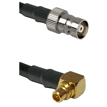 C Female on LMR100 to MMCX Right Angle Male Cable Assembly