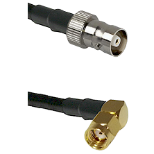 C Female on LMR100 to SMA Reverse Polarity Right Angle Male Cable Assembly
