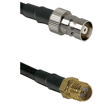 C Female on LMR100 to SMA Reverse Polarity Female Cable Assembly