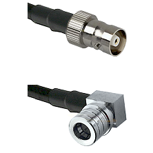 C Female on LMR100 to QMA Right Angle Male Cable Assembly