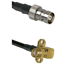 C Female on LMR100 to SMA 2 Hole Right Angle Female Cable Assembly