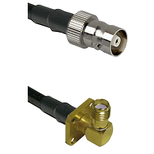 C Female on LMR100 to SMA 4 Hole Right Angle Female Cable Assembly