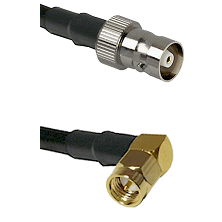 C Female on LMR100 to SMB Right Angle Male Cable Assembly