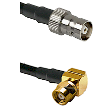 C Female on LMR100 to SMC Right Angle Female Cable Assembly