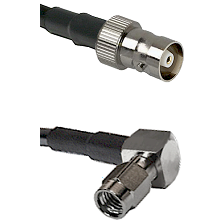 C Female on LMR100 to SSMA Right Angle Male Cable Assembly