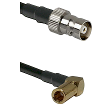 C Female on LMR100 to SSMB Right Angle Female Cable Assembly