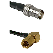 C Female on LMR100 to SSMC Right Angle Female Cable Assembly