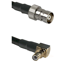 C Female on LMR100 to SSMC Right Angle Male Cable Assembly