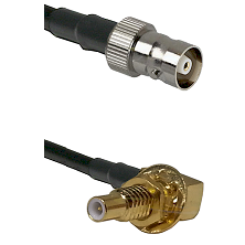 C Female on LMR100 to SLB Male Bulkhead Cable Assembly