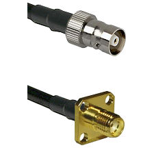 C Female on LMR100 to SMA 4 Hole Female Cable Assembly