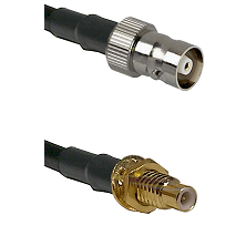 C Female on LMR100 to SMC Male Bulkhead Cable Assembly