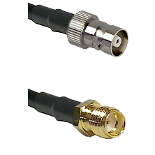 C Female on LMR100 to SSMA Female Cable Assembly