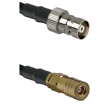 C Female on LMR100 to SSMB Female Cable Assembly