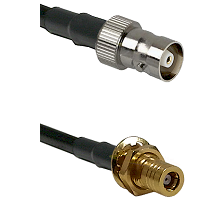 C Female on LMR100 to SSMB Female Bulkhead Cable Assembly