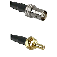 C Female on LMR100 to SSMB Male Bulkhead Cable Assembly