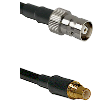 C Female on LMR100 to SSMC Male Cable Assembly