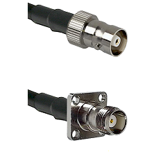 C Female on LMR100 to TNC 4 Hole Female Cable Assembly