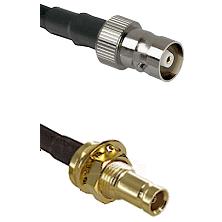 C Female on LMR200 UltraFlex to 10/23 Female Bulkhead Cable Assembly