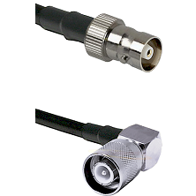 C Female Connector On LMR-240UF UltraFlex To SC Right Angle Male Connector Cable Assembly