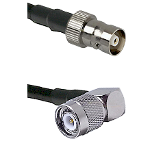 C Female Connector On LMR-240UF UltraFlex To TNC Right Angle Male Connector Cable Assembly